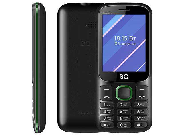 Сотовый телефон BQ 2820 Step XL+ Black-Green