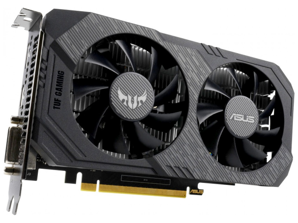 Видеокарта ASUS GeForce GTX 1650 TUF Gaming 1515Mhz PCI-E 3.0 4096Mb 8002Mhz 128 bit DP HDMI DVI TUF-GTX1650-4G-GAMING