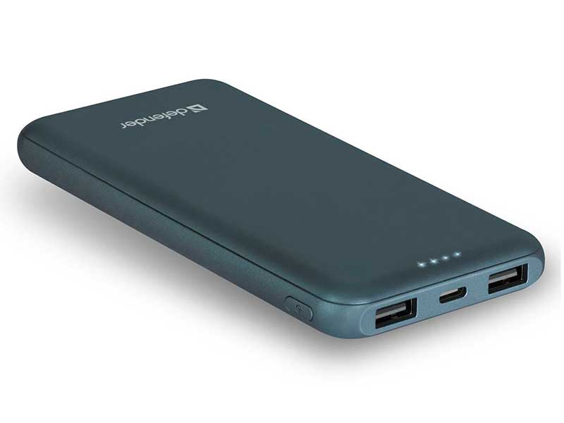 Внешний аккумулятор Defender Power Bank ExtraLife 10000F 10000mAh Blue 83663