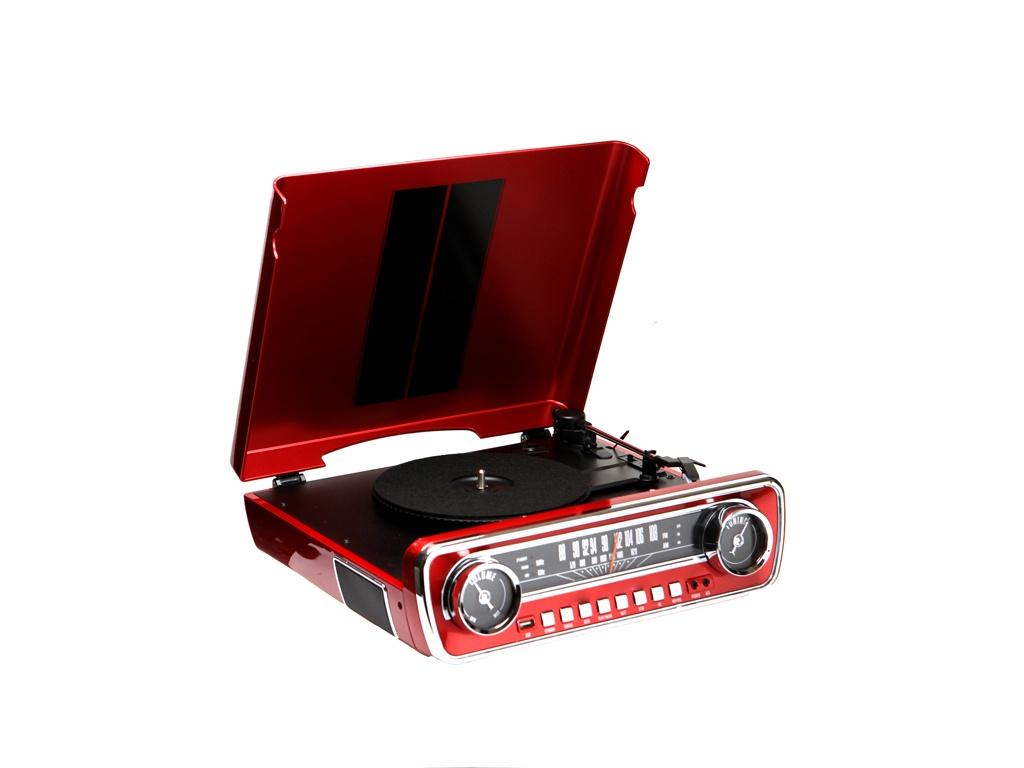 Проигрыватель ION Audio Mustang LP Red IONmust-r