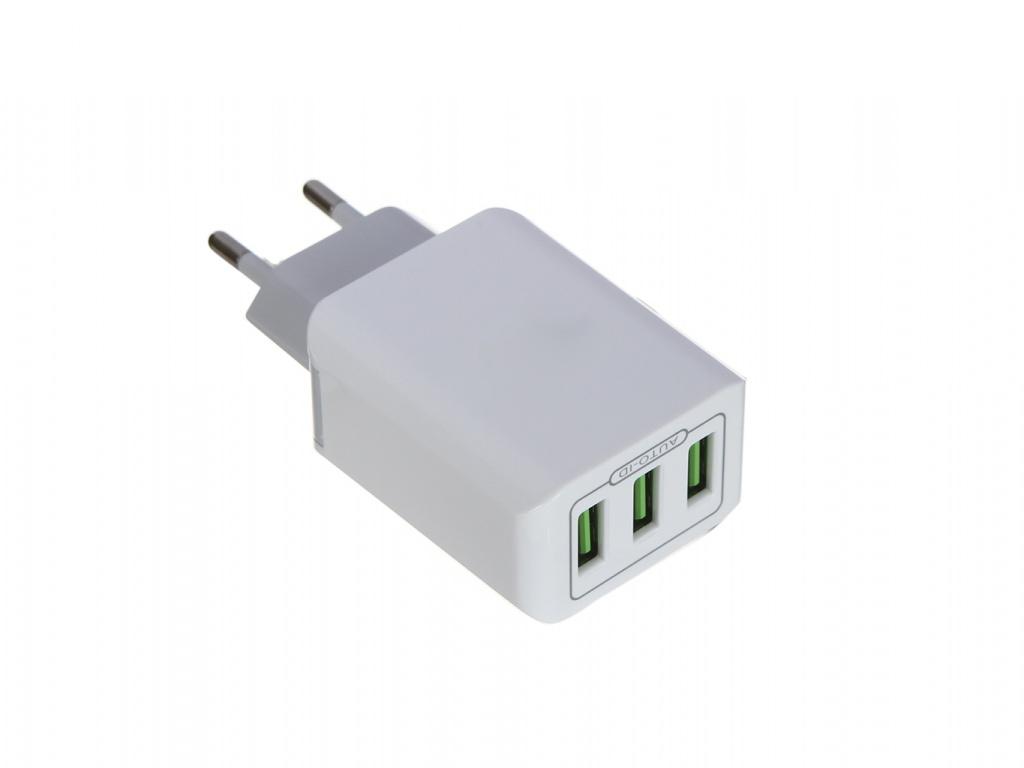 Зарядное устройство LuxCase QY-13G 3xUSB 3.2A 98306