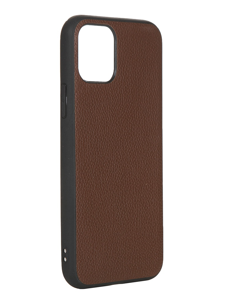 Чехол LuxCase для APPLE iPhone 11 Pro Кожа+TPU Brown 66004