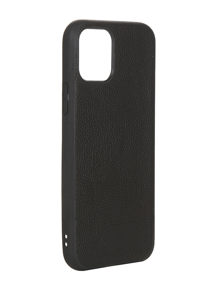 Чехол LuxCase для APPLE iPhone 11 Pro Кожа+TPU Black 66006