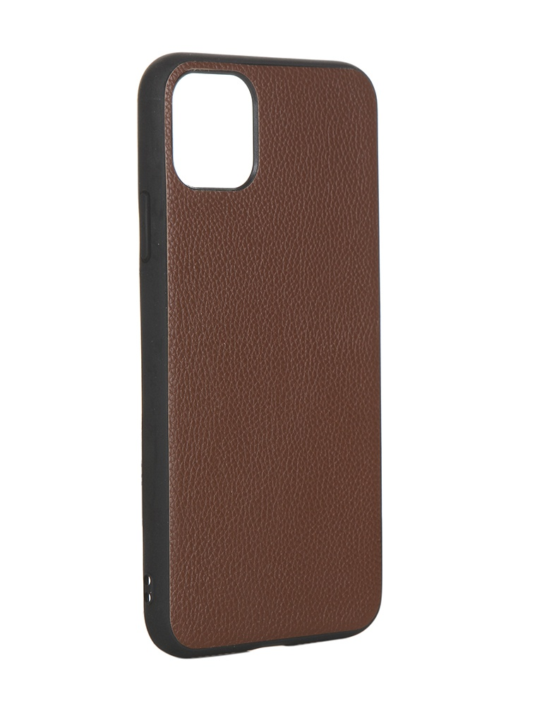 Чехол LuxCase для APPLE iPhone 11 Pro Max Кожа+TPU Brown 66007