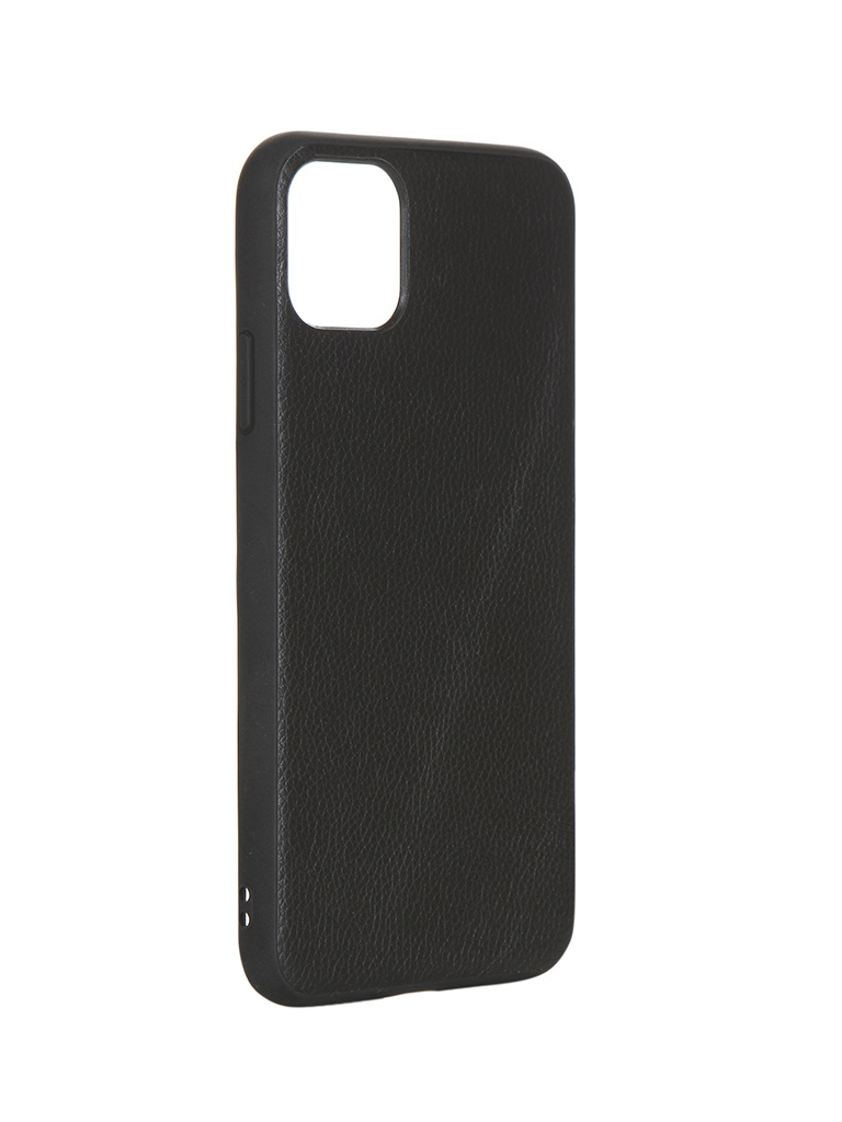 Чехол LuxCase для APPLE iPhone 11 Pro Max Кожа+TPU Black 66009