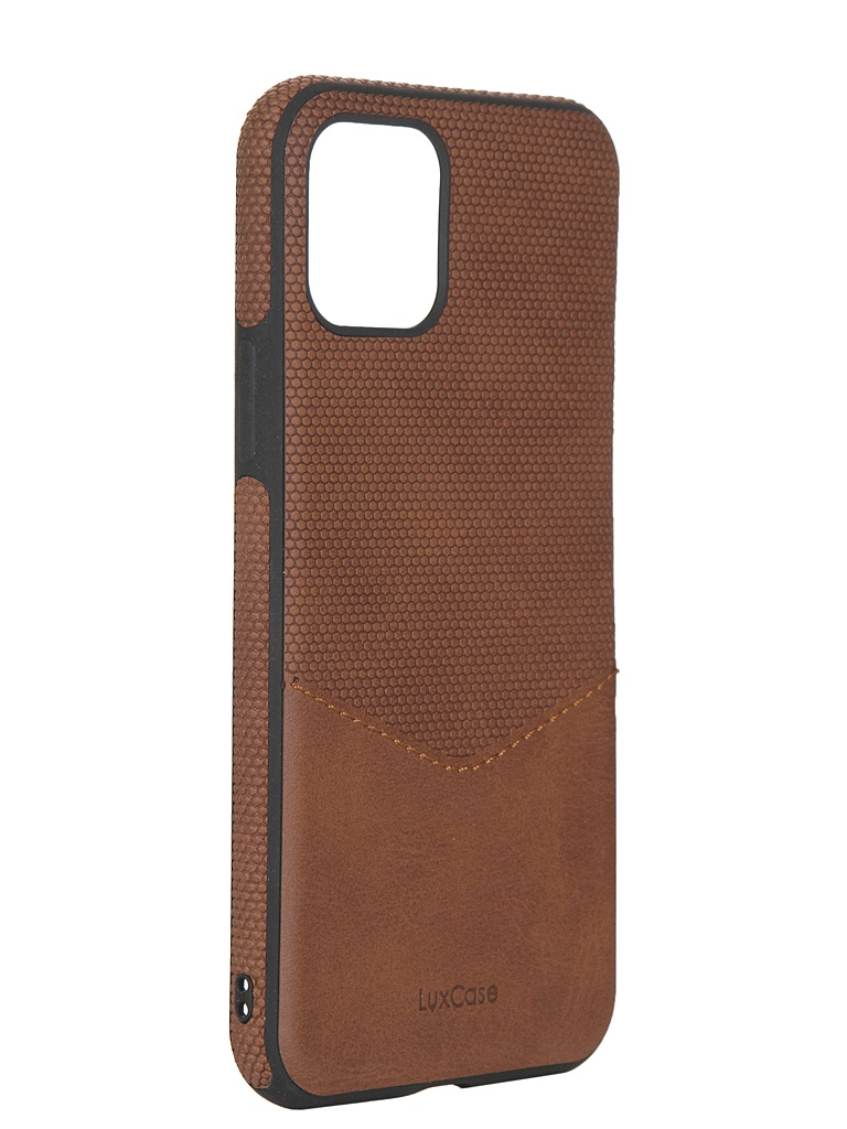 Чехол LuxCase для APPLE iPhone 11 Pro Экокожа+TPU со строчкой Brown 67003