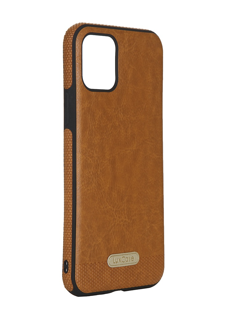 Чехол LuxCase для APPLE iPhone 11 Pro Экокожа+TPU Caramel 67505
