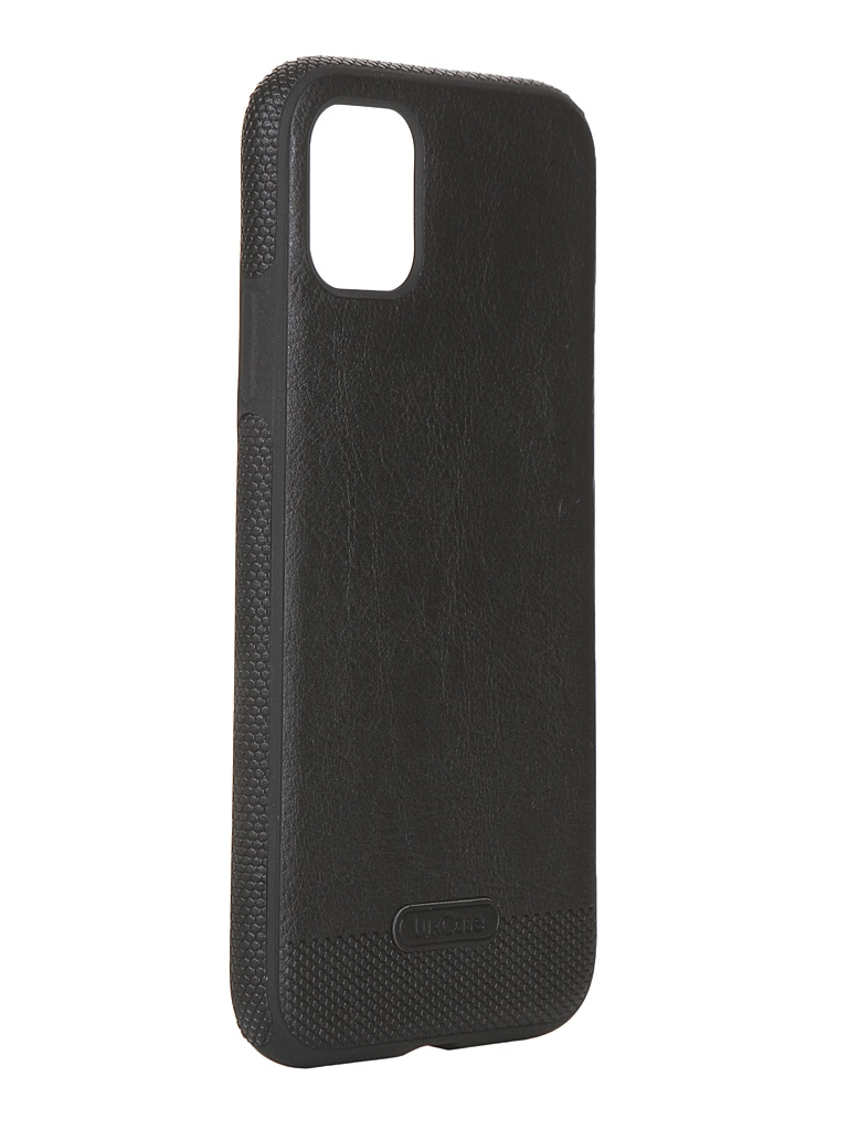 Чехол LuxCase для APPLE iPhone 11 Экокожа+TPU Black 67503