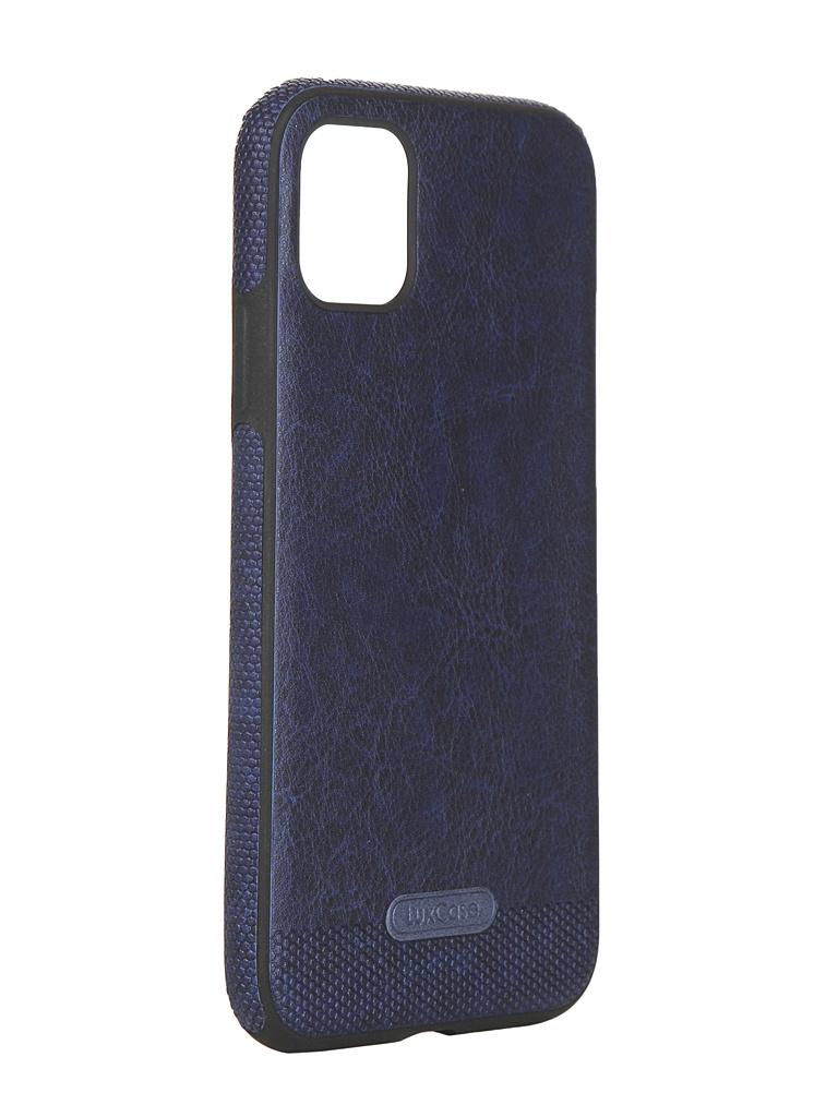 Чехол LuxCase для APPLE iPhone 11 Экокожа+TPU Blue 67501
