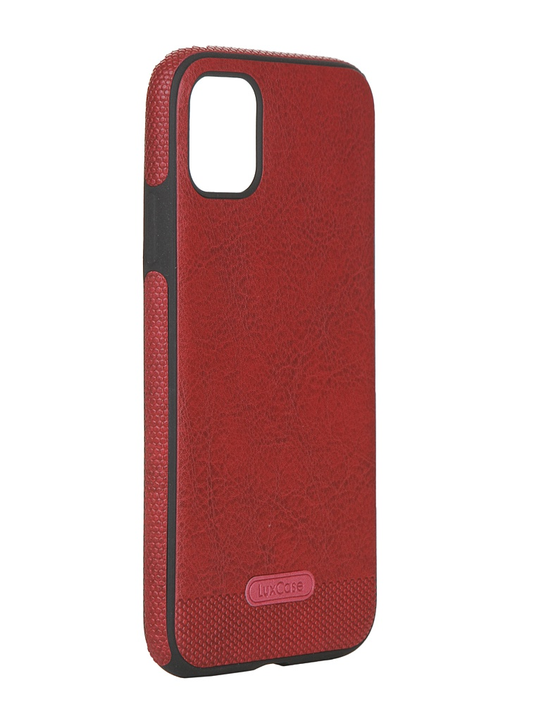 Чехол LuxCase для APPLE iPhone 11 Экокожа+TPU Red 67502