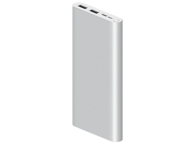 Внешний аккумулятор Xiaomi Mi Power Bank 3 10000mAh Type-c + 2USB Silver PLM13ZM Fast Charge 18W Выгодный набор + серт. 200Р!!! аккумулятор xiaomi mi power bank 3 10000mah silver