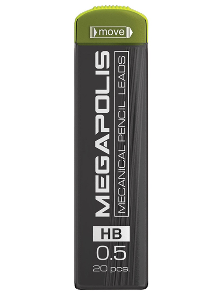 Грифель ErichKrause Megapolis Concept 0.5mm HB 20шт 20345