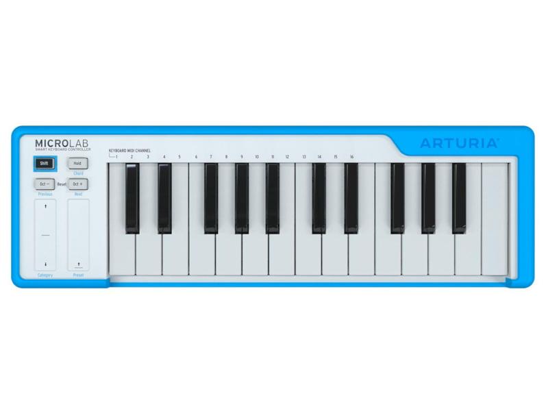 цена MIDI-клавиатура Arturia Microlab Blue онлайн в 2017 году