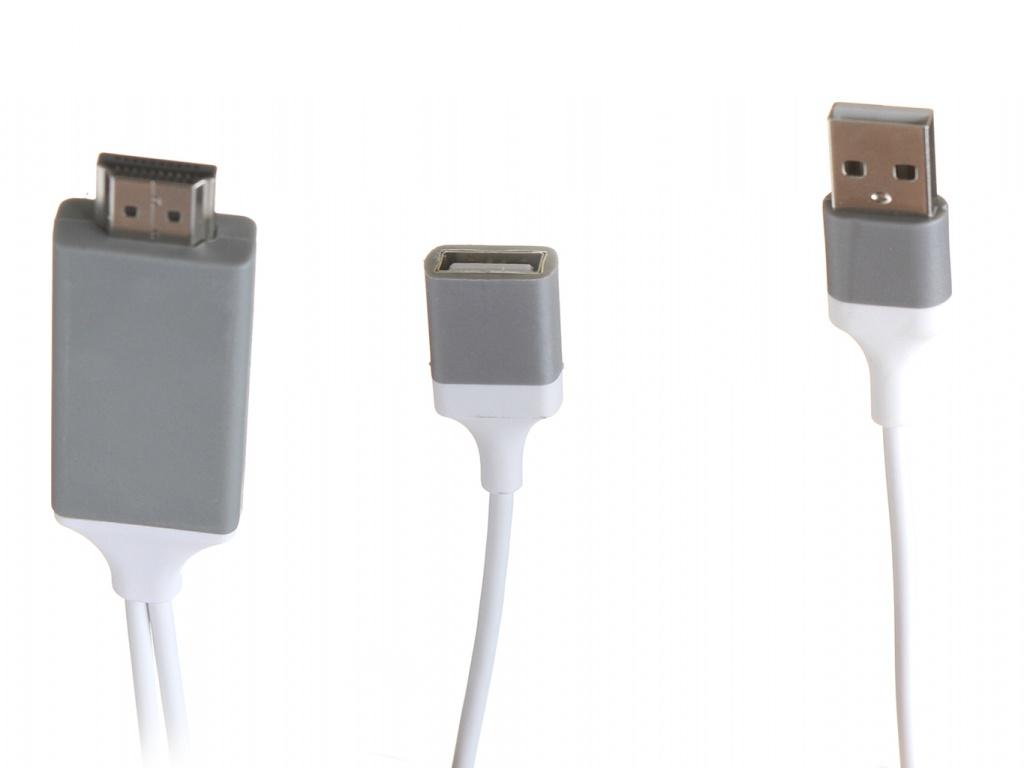 Аксессуар Gurdini Universal Output USB to HDTV Cable 1m 1080HD White 911059