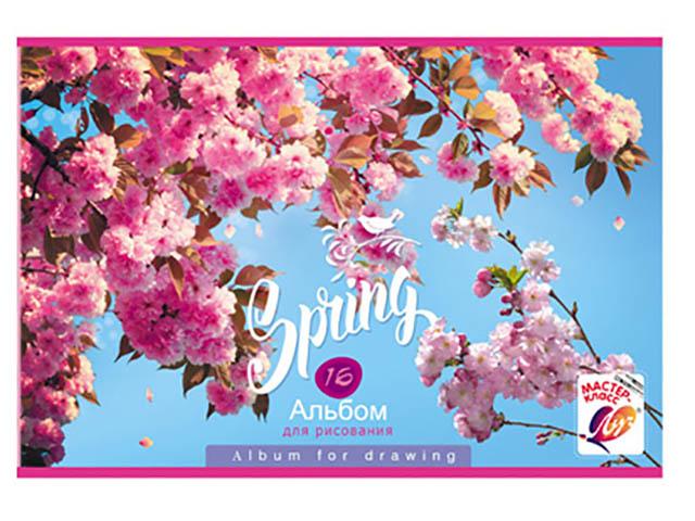Альбом для рисования BG Spring Bloom А4 16 листов АР4ск16 7628