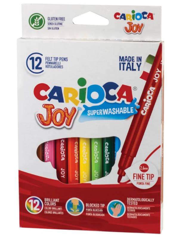 Фломастеры Carioca Joy 12 цветов 40614