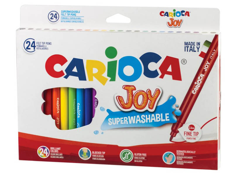 Фломастеры Carioca Joy 24 цвета 40615