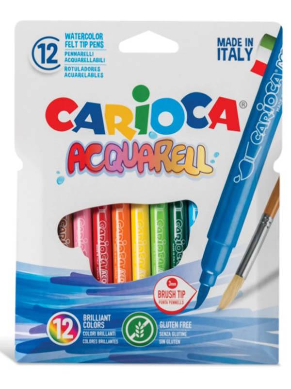 Фломастеры Carioca Aquarell 12 цветов 42747