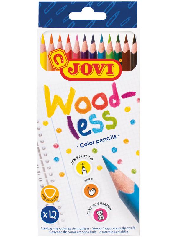 Карандаши цветные Jovi Wood-less 12 цветов 734/12