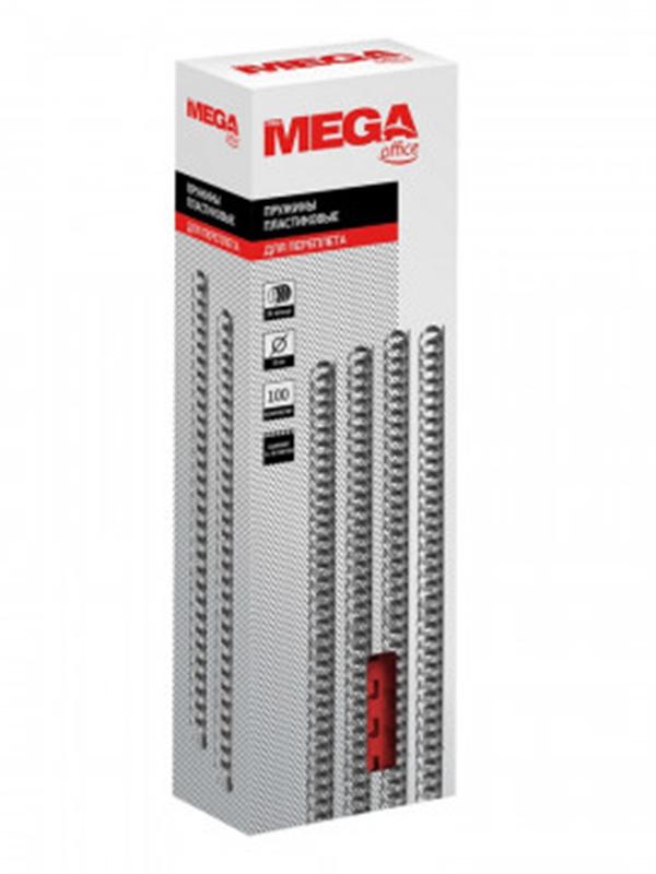 Пружины для переплета ProMega Office 8mm 100шт Red 255077