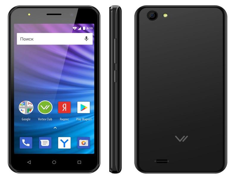 Сотовый телефон Vertex Impress Luck L100 Black сотовый телефон vertex impress stone lte graphite