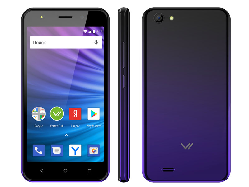 Сотовый телефон Vertex Impress Luck L100 Dark Blue сотовый телефон vertex d571 red