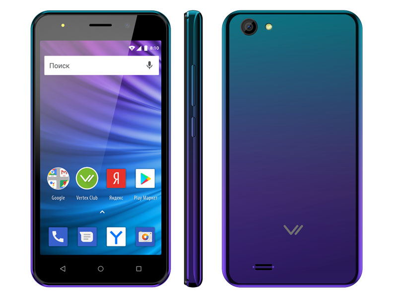 Сотовый телефон Vertex Impress Luck L100 Sapphire сотовый телефон vertex d571 red