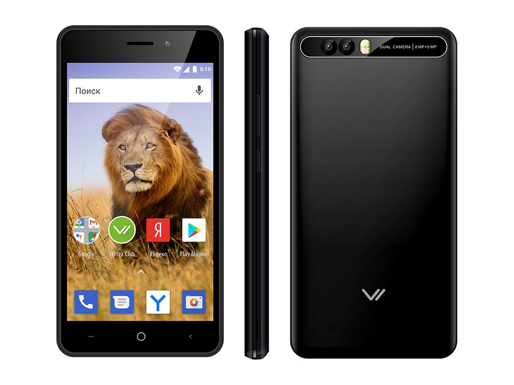 Сотовый телефон Vertex New Impress Lion Dual Cam Black