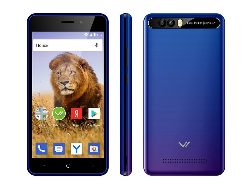 Сотовый телефон Vertex New Impress Lion Dual Cam Sapphire