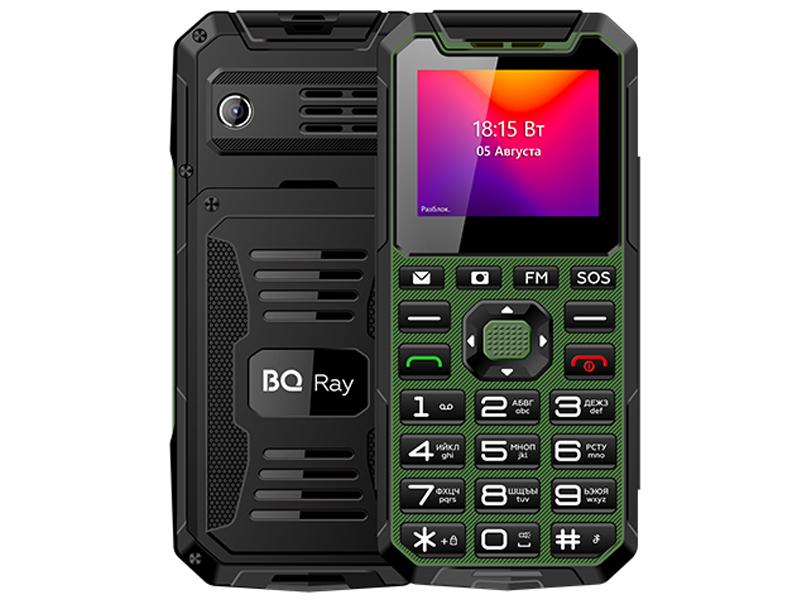 Сотовый телефон BQ 2004 Ray Green-Black