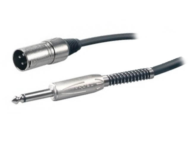 Шнур Proel 6.3mm Mono Jack - XLR/F 5m BULK220LU5