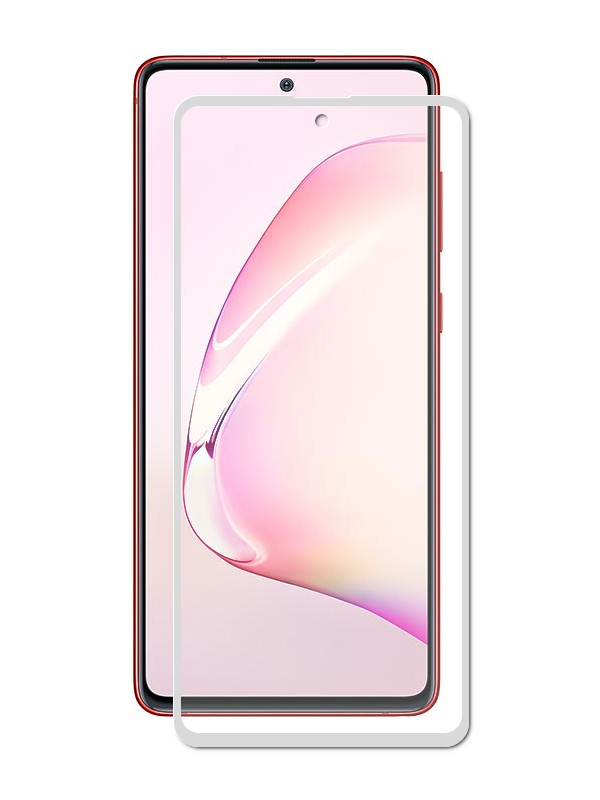 Защитный экран Red Line для Samsung Galaxy Note 10 Lite Full Screen Tempered Glass Glue Silver УТ000019653