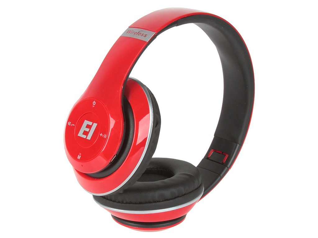 Наушники Eltronic Bluetooth/FM/Micro SD/AUX Red 4462