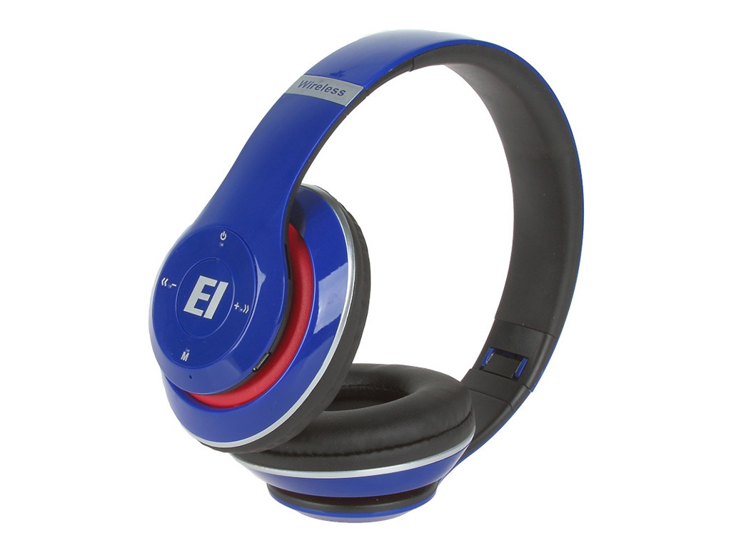 Наушники Eltronic Bluetooth/FM/Micro SD/AUX Blue 4462