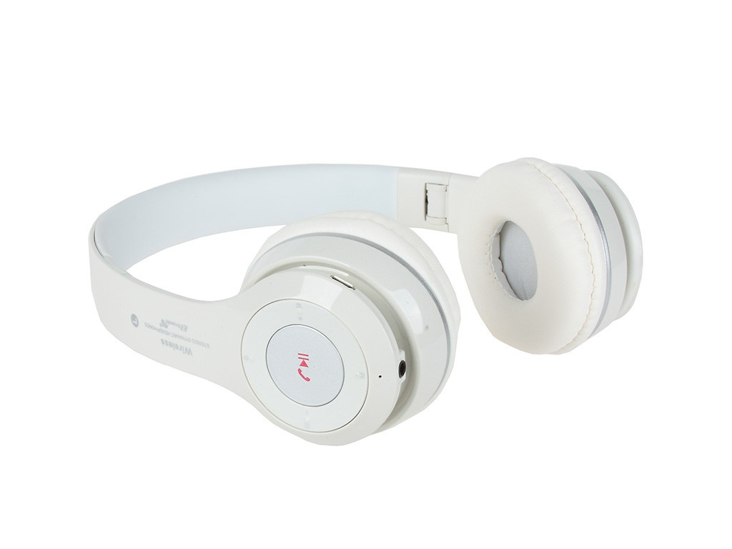 Наушники Eltronic Bluetooth/FM/Micro SD/AUX White 4463