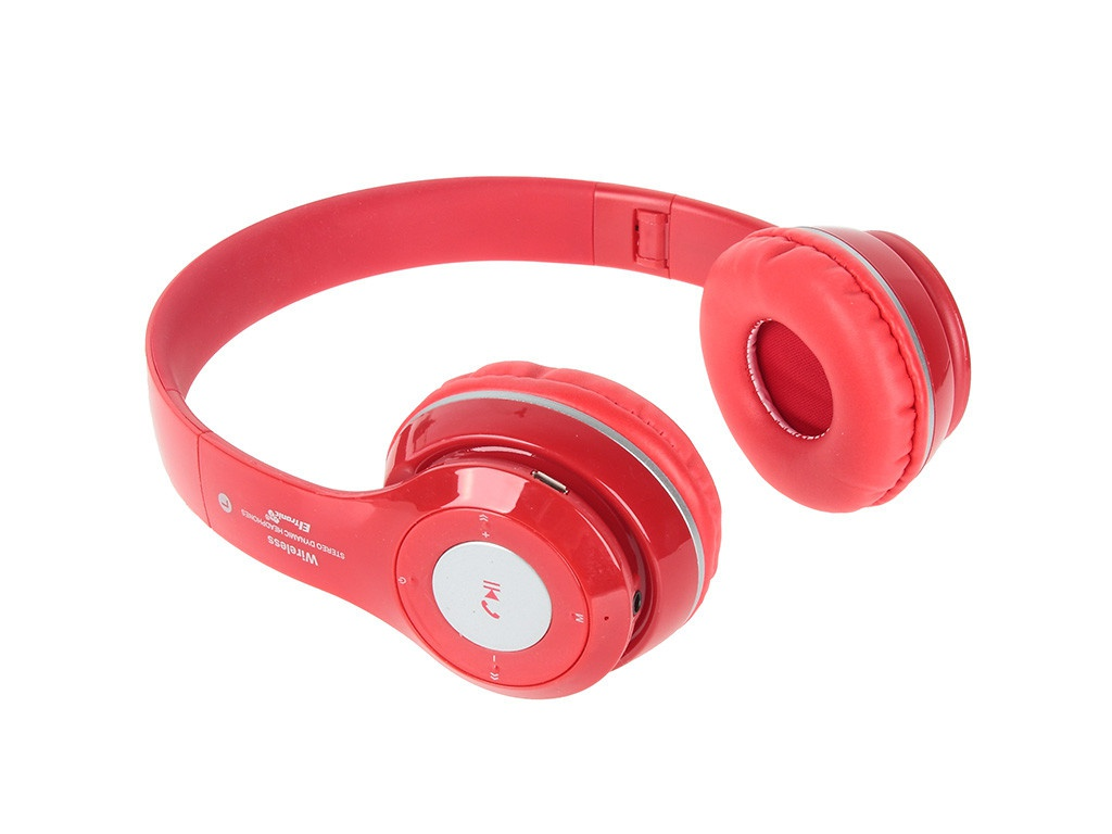 Наушники Eltronic Bluetooth/FM/Micro SD/AUX Red 4463