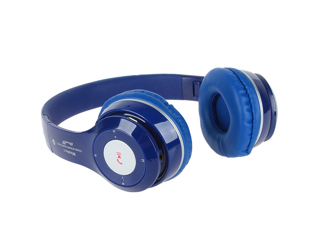 Наушники Eltronic Bluetooth/FM/Micro SD/AUX Blue 4463