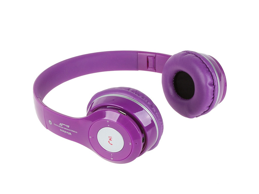 Наушники Eltronic Bluetooth/FM/Micro SD/AUX Purple 4463