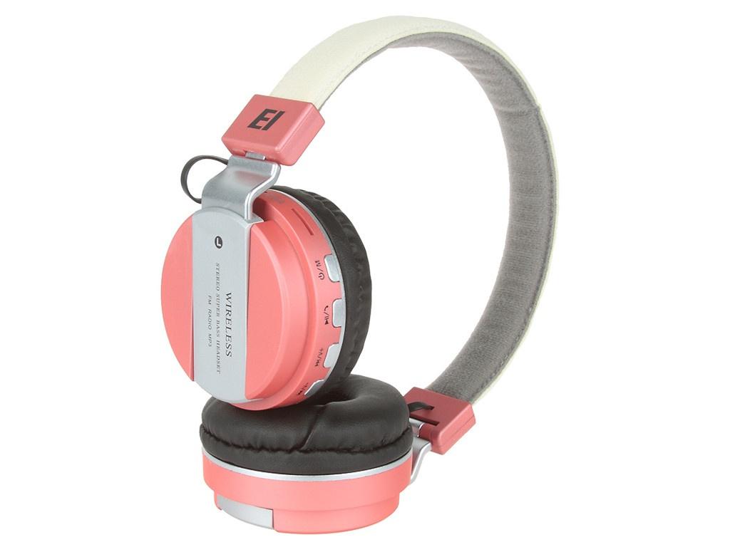 Наушники Eltronic Bluetooth/FM/Micro SD/AUX Pink 4464