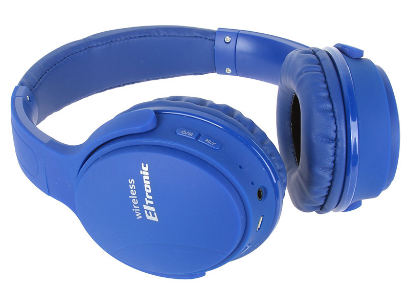 Наушники Eltronic Bluetooth/FM/Micro SD/AUX Blue 4466