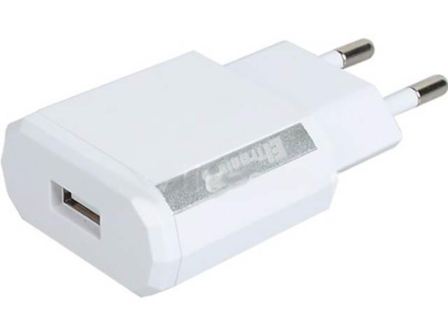 Зарядное устройство Eltronic Faster USB 1.2A White 5619