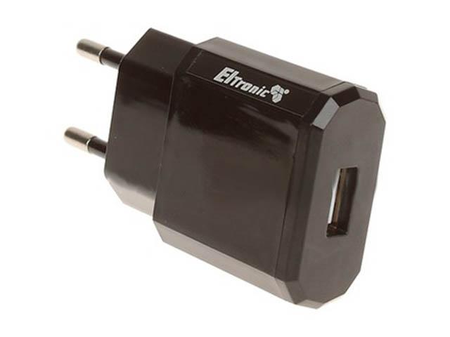 Зарядное устройство Eltronic Faster USB 1.2A Black 5618