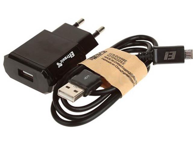Зарядное устройство Eltronic Faster Micro USB 1.2A Black 5646