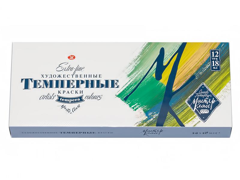 Набор темперных красок Невская Палитра Мастер-Класс 12 цветов по 18мл 1641007