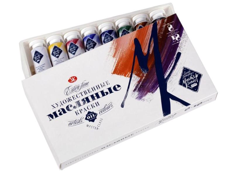 Масляные краски Невская Палитра Мастер-Класс 8 цветов по 18мл 1141082 краски масляные невская палитра сонет 1 цвет