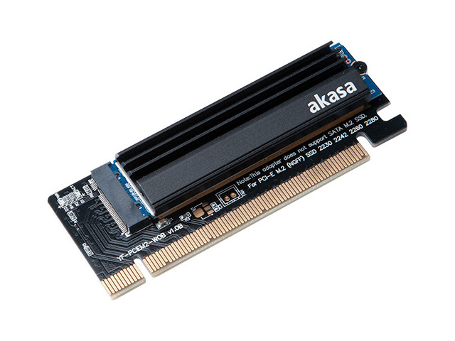 Адаптер Akasa M.2 SSD to PCIe Adapter Card with Heatsink Cooler AK-PCCM2P-05