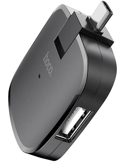 Хаб USB Hoco HB11 Black