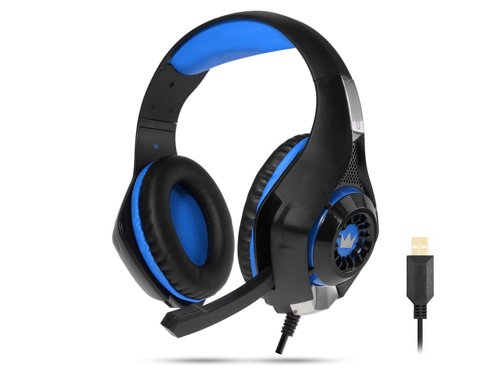 Наушники Crown CMGH-102T Black-Blue