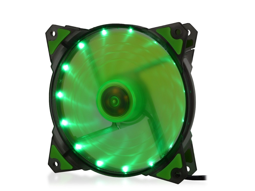 Вентилятор Crown 120mm Green LED CMCF-12025S-1222