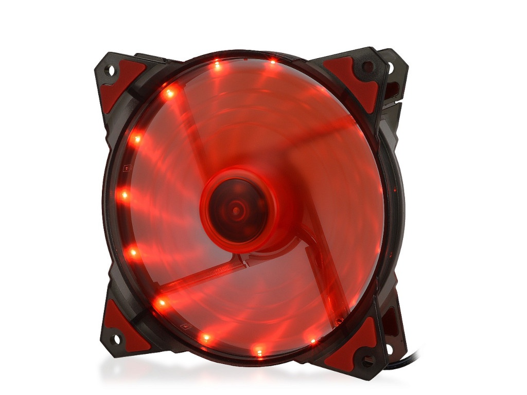 Вентилятор Crown 120mm Red LED CMCF-12025S-1220